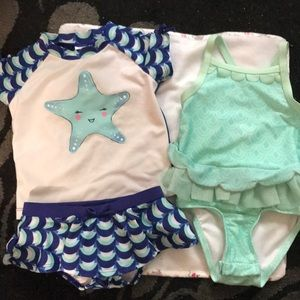 Other - 2T swimwear lot (two swim suits/two swim diapers)